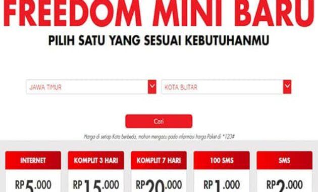 Cara Daftar Paket Freedom Mini Indosat Ooredoo Terbaru