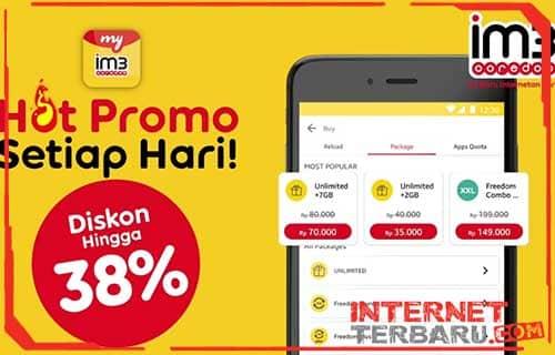 Cara Daftar Paket Unlimited Indosat Ooredoo Lewat App MyIM3