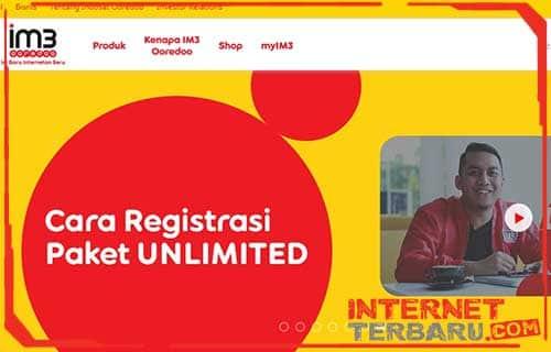 Cara Daftar Paket Unlimited Indosat Ooredoo Lewat Website Resmi