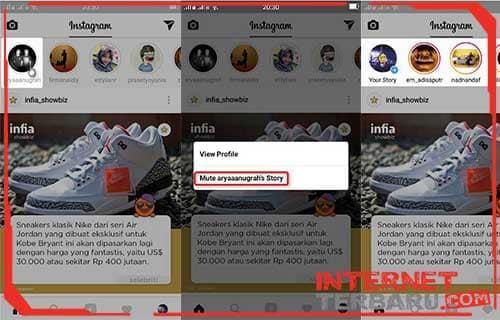 Cara Menggunakan Mute Story Instagram