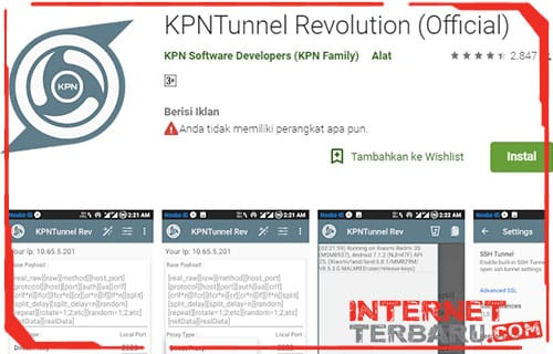 Download KPN Tunnel Rev Support SSL dan Cara Settingnya