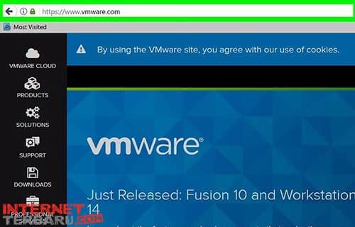 Kunjungi website resmi dari vmware di web browser