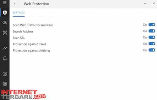 Masuk Ke Web Protection module