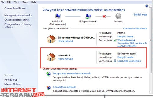 MengatasiKomputer Tidak Bisa Konek Internet Pada LAN