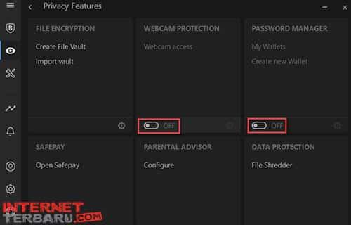Setting Webcam Protection module