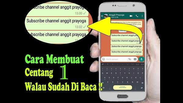 Aplikasi Cara Membuat WhatsApp Centang 1 Agar Terlihat Offline